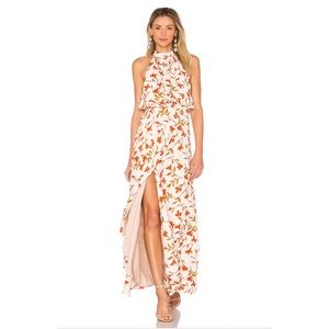 Lovers + Friends Golden Ray Maxi Dress in Palm